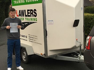 Nathan passes b+e trailer test first time