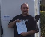 Chris from Huddersfield near Leeds passes B+E Test