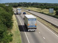 HGV's on open road